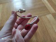 Armreif Silber Rubin Rot - wie