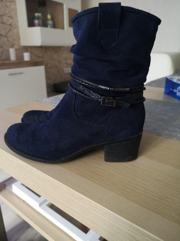 Blaue Stiefeletten Grösse 37