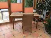 Orig französischer Bistro-Tisch mit 4