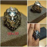 Löwenkopf Ring aus echter Edelstahl