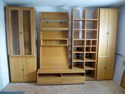 Wohnwand Wohnzimmerschrank Massivholzfront