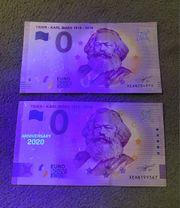 SELTEN 2x 0 Euro Schein -