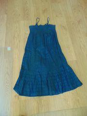 Spagettiträgerkleid blau Gr 46
