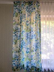Übergardinen Schal blau grün Vorhang
