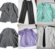 Schwarzer Anzug und 3 Hemden
