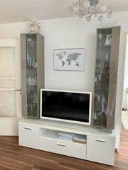 Lowboard TV-Regal TV-Schrank Hochglanz weiß