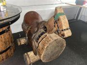Holzfpferd incl engl Sattel