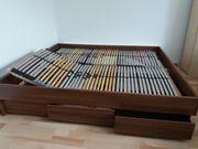 Doppelbett Nussbaumdekor 200 cm x