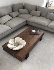 Massiv Holz Couchtisch LoungeCouchtisch Block
