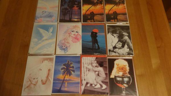 Große Karten Postkarten mit farblich
