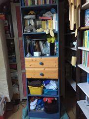 Regal für Kinderzimmer Kiefer-Blau