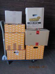 8 Stück Flohmarkt-Kisten-Kartons-Artikel-