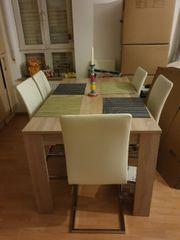 Esstisch mit 6 Stühlen in