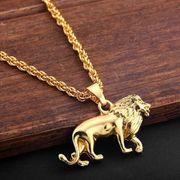 Goldener Löwe mit Kette