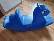 Schaukelpferd blau