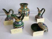 Italienische Vasen handbemalt mit Gold