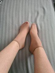 getragene Nylon Socken Größe 38