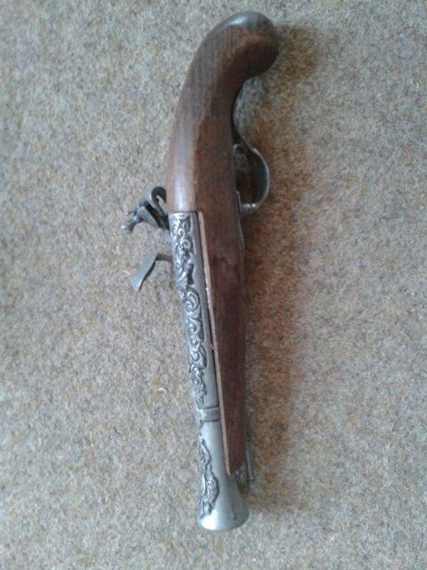 Deko Pistole Steinschloßpistole 36 cm