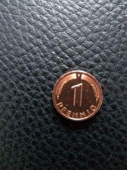 1 Pfennig Münze F 1990