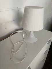 Nachttischlampe weiß neuwertig