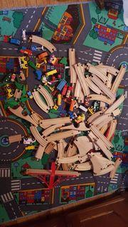 Holz-Eisenbahn 133teiliges Set