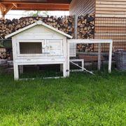 Kleintierstall mit Freigehege Woody Cottage