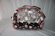 Hundetragetasche Valentine pink transp 46