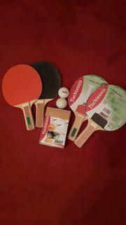 Tischtennisschläger 8 Bälle