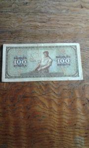 100 Dinar 1941 1 Mai