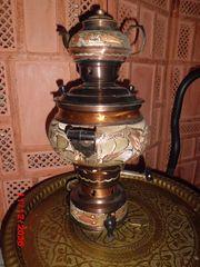 Samovar türkisch Kupfer mit Intarsien