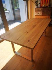 Tisch Eiche natur massiv 200x100x77