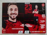 Autogrammkarte Fabian Schleusener 1 FC