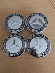 Mercedes Radnabendeckel Felgendeckel Nabendeckel schwarz