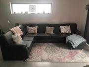 Ledersofa Couch Grau NEU