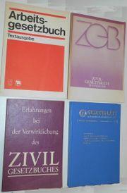 DDR Gesetzbücher ArbGB ZivilGB Verkehr