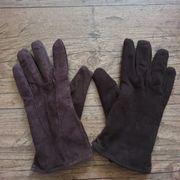 Handschuhe braun NEU echtes Wildleder
