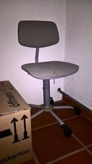 Schreibtischstuhl grau Jugend-Bürostuhl Drehstuhl höhenverstellbar