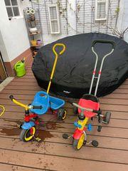 Dreiräder mit Lenkstange Zwillinge hochwertig