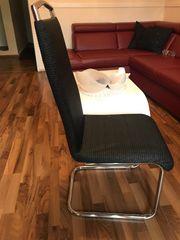 4- Stühle schwarz
