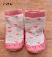 Gr 20-22 Hüttenschuhe Schuhe Söckchen
