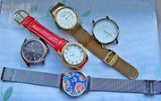 Konvolut mit 5 verschiedenen Armbanduhren