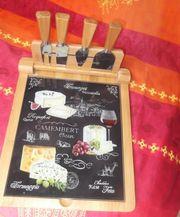 Käsebrett aus Bambus Vollholz