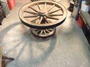 Wagenrad Tisch Holzrad Deko