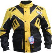 Motorradjacke Textil Gelb schwarz