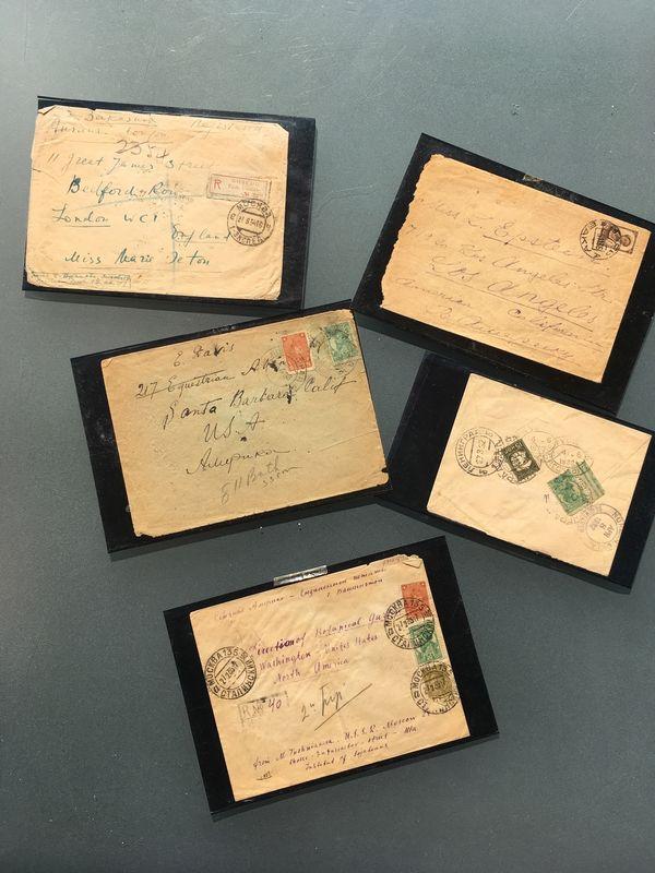 Briefe alt Briefmarken