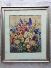 Aquarell Bild Blumen Kunsthandlung A