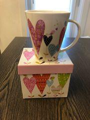Geschenk-Tasse groß neu