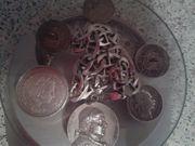 Silber Münze und Kette