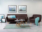 3-Sitzer Sofa Polsterbezug braun MOTALA neu