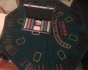 Poker Koffer und Pokertischplatte Gesellschaftsspiele
